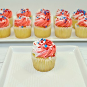 Gold Mini Patriotic Cupcakes