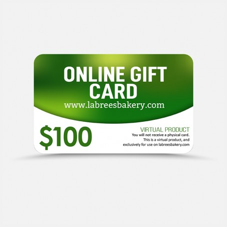 $100 Online Gift Card