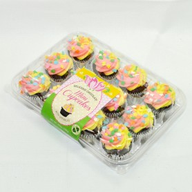Spring Mini Cupcakes - Chocolate